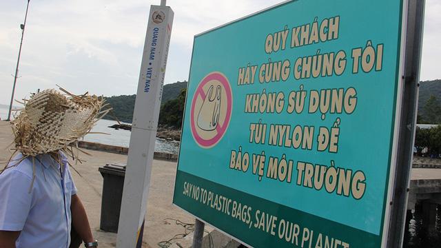 Thông điệp đầu tiên khi du khách tới Cù Lao Chàm