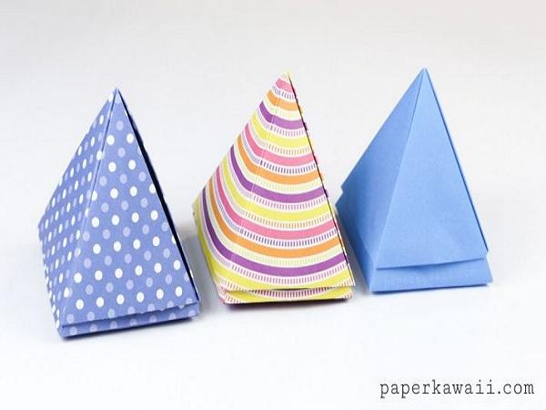 Cách gấp hộp hình kim tự tháp