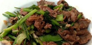 Cách xào thịt bò ngon