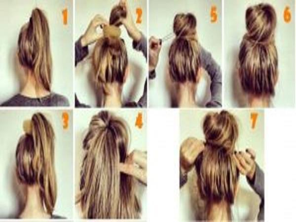 cách búi tóc đơn giản