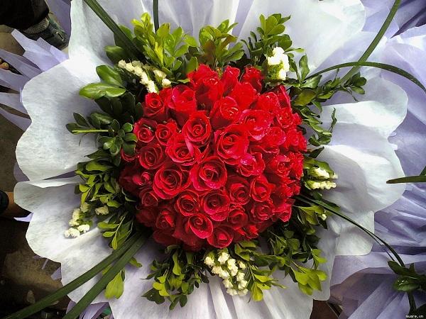 cách bó hoa hồng đẹp