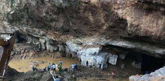 2 người mất tích trong vụ sập hầm vàng ở Hòa Bình