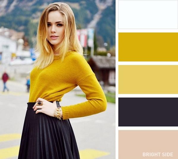 cách phối màu cho trang phục