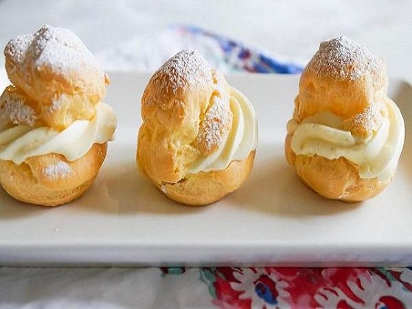 Cách làm bánh su kem nhân phô mai