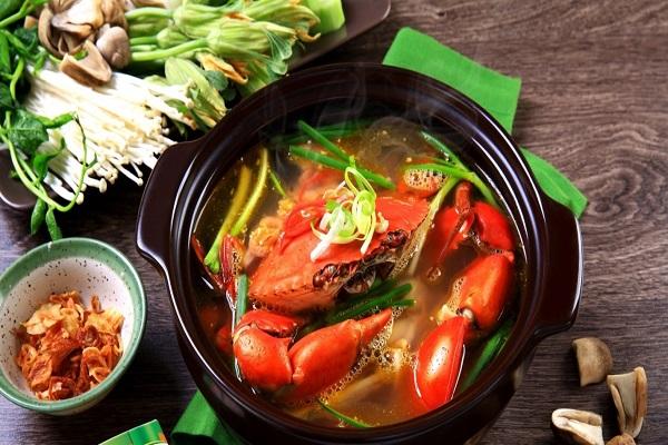 Cách nấu lẩu cua biển ngon
