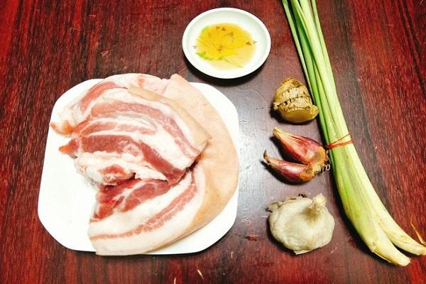 Cách làm thịt ba chỉ nướng ướp sả ngon