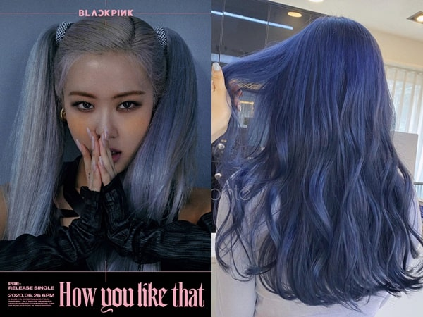 Màu tóc hot nhất hiện nay xanh nhạt xám tro