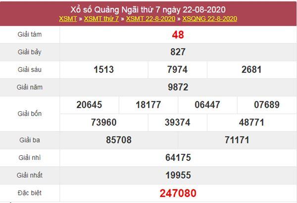 Dự đoán XSQNG 29/8/2020 chốt lô Quảng Ngãi thứ 7 cực chuẩn