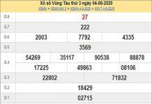 Dự đoán XSVT 11/8/2020