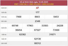 Dự đoán XSBDI 17/9/2020 chốt KQXS Bình Định thứ 5