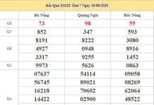 Dự đoán XSMT 26/9/2020 chốt KQXS miền Trung thứ 7
