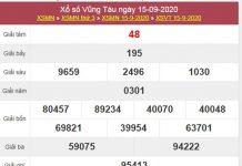 Dự đoán XSVT 22/9/2020 chốt KQXS Vũng Tàu thứ 3
