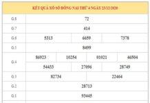Dự đoán XSDN ngày 30/12/2020 dựa trên kết quả kì trước
