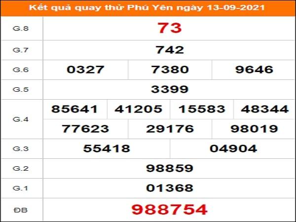 ✅ Quay thử kết quả xổ số Phú Yên ngày 13/9/2021